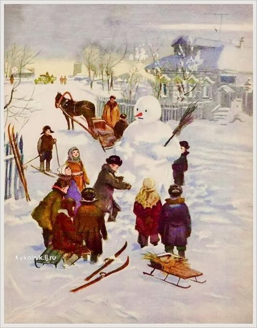 Ермолаев Адриан Михайлович  (Россия 1900-1977) «Зимой» 1954