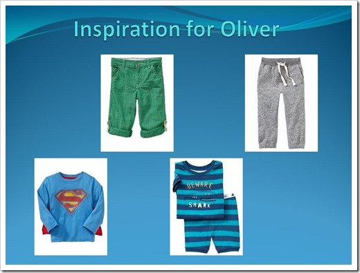 Inspiration for Oliver-summer 2013