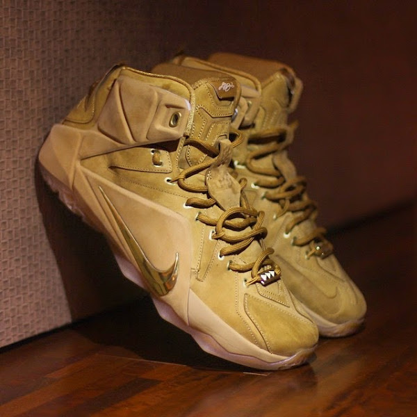 Nike Puts a Special Reminder Inside 8220Wheat8221 LeBron 12 EXT