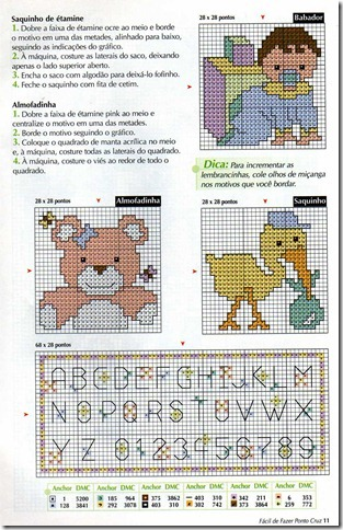 enxoval bebe ponto cruz cross stitch