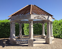"Octagon Gazebo with 8 columns, Dia 14"" tapered with rope detail"