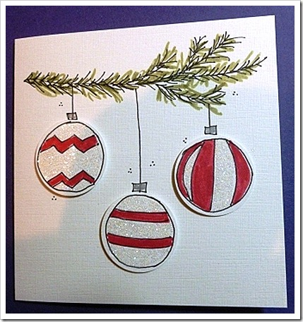 Doodles Christmas Bauble Card