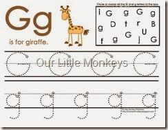 Gg handwriting