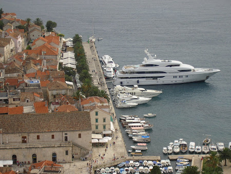 What to see in Croatia: Sleek speedboats in the port