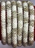 rollover bracelet silver white