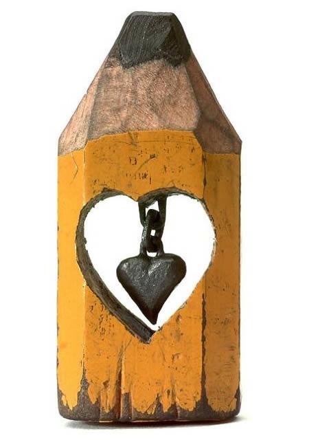 النحت على اقلام الرصاص-heart2-refofun