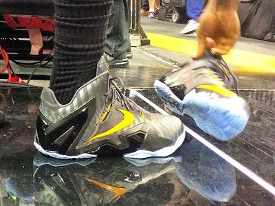 lebron james nba 140603 practice 01 King James Wears Nike LeBron 11 Elite Finals PE on Media Day