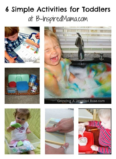 toddler activities collage
