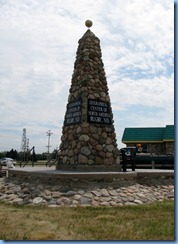 2533 North Dakota Hwy 3 South Rugby - Geographical Center of North America rock obelisk