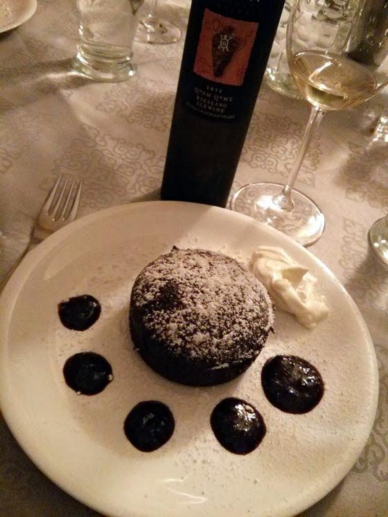 Nk'Mip Icewine & Chocolate Lava Cake
