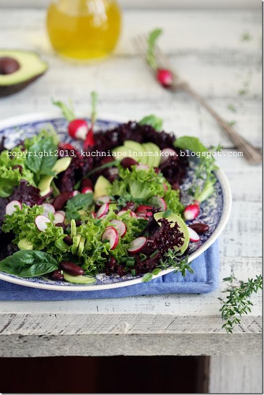 sałata karbowana, rzodkiewka i zioła (9)
