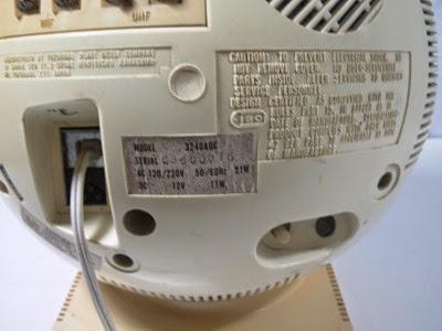 JVC Videosphere black and white television model 3240AQC back 2