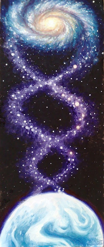 Spirala vieti - The spyral of life - The Cosmic DNA - Painting
