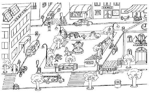 Dibujos de partes de la ciudad para colorear - Imagui