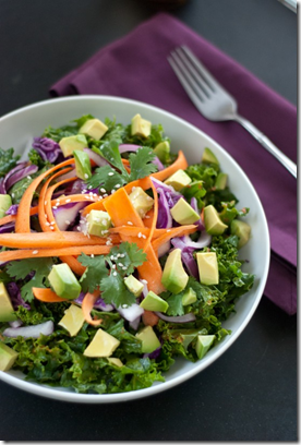 Asian-Inspired Raw Kale Salad