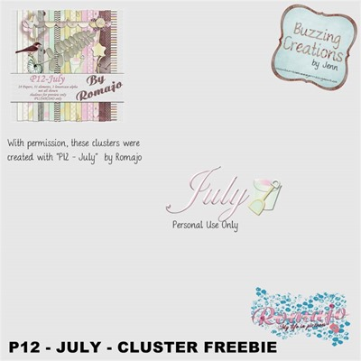 Romajo - P12 July - Cluster Freebie Preview