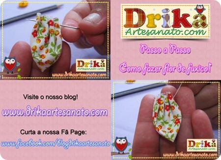4 Passo a Passo como fazer fuxico Drika Artesanato post