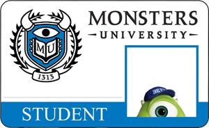 Mike Wazowski Monsters University Student Identification Card