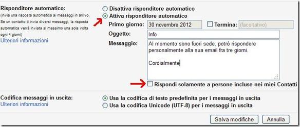 Risponditore automatico Gmail