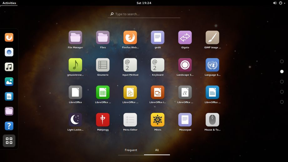 Moka in Gnome Shell