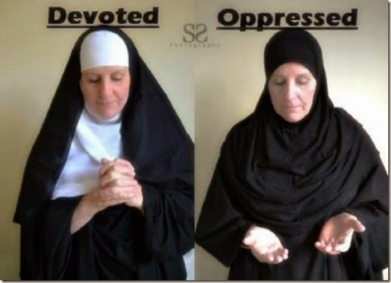 Nun-Devoted Hijab-Oppressed
