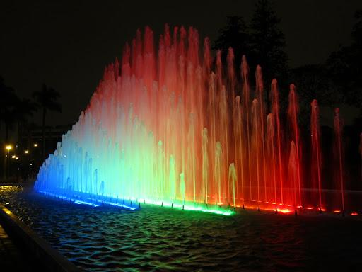 The Rainbow fountain at Parque de la Reserva