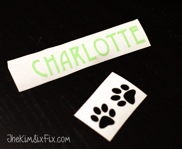 Labels for personalizing cat bowl