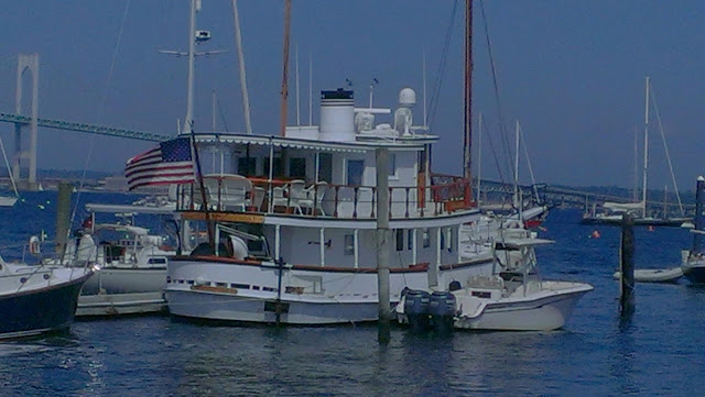 large boat near Jamestown