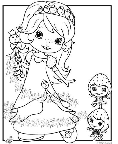 Desenho da moranguinho princesa para colorir