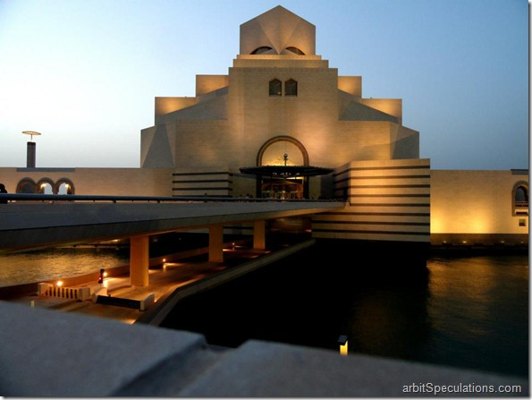 I M Pei, and I designed the Museum of Islamic arts in Doha, Qatar.