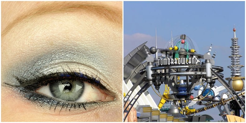 walt disney world tomorrowland inspired makeup