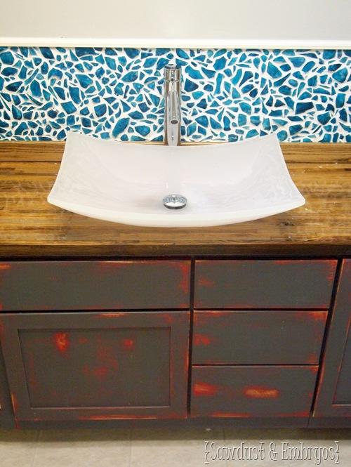 DIY Mason Jar Mosaic Backsplash Tutorial PART 1 {Sawdust & Embryos}