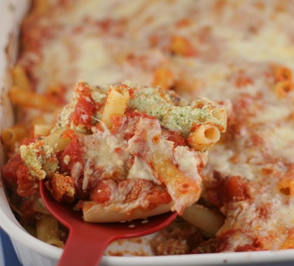baked ziti with pesto 2