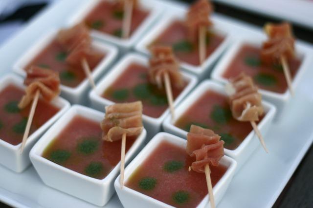 cantaloupe soup serrano ham