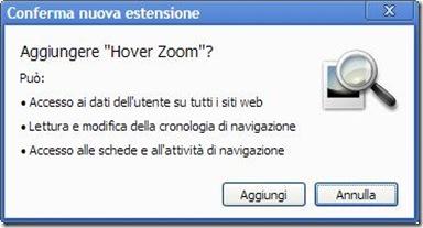 Conferma nuova estensione Chrome