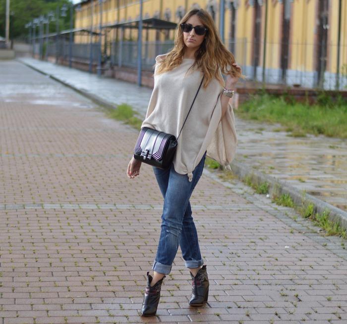Italian fashion blogger, fashion blogger italiane, outfit, fashion blogger outfit, poncho, outfit poncho