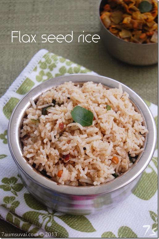 Flax seed rice pic2