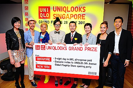 UNIQLO  UNILOOKS SINGAPORE Finals at ION SKY Orchard Felicia Chin, Clarence Lee, Trey Wong, MTV VJ Holly, URBAN editor and UNIQLO Singapore MD