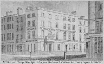 1840 Londra Sokak Görünümü