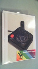 notecards with picture of Atari joystick