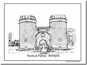 Puerta de Palmas jugarycolorear - BADAJOZ 1