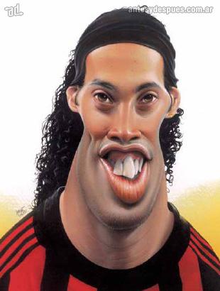 La caricatura de Ronaldinho