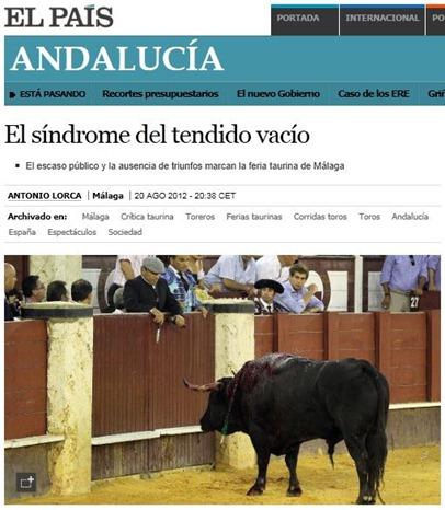 El sindrome del tendido vacio (A Lorca-El Pais)