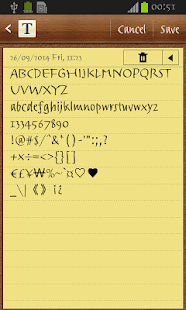 Trackpad FlipFont - screenshot