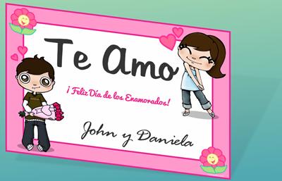 Tarjeta de San Valentín para Imprimir | Día de los Enamorados