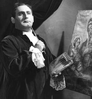 Richard Tucker as Mario Cavaradossi in Puccini's TOSCA at the Metropolitan Opera, 1955 [Photo by Louis Mélançon]