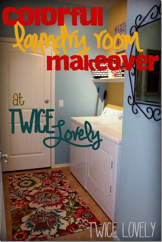 Cheerful, Colorful Laundry Room from Twice Lovely