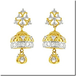Jimiki earrings with diamonds
