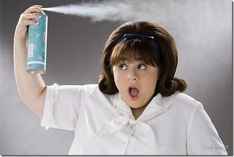 Spray pra cabelo