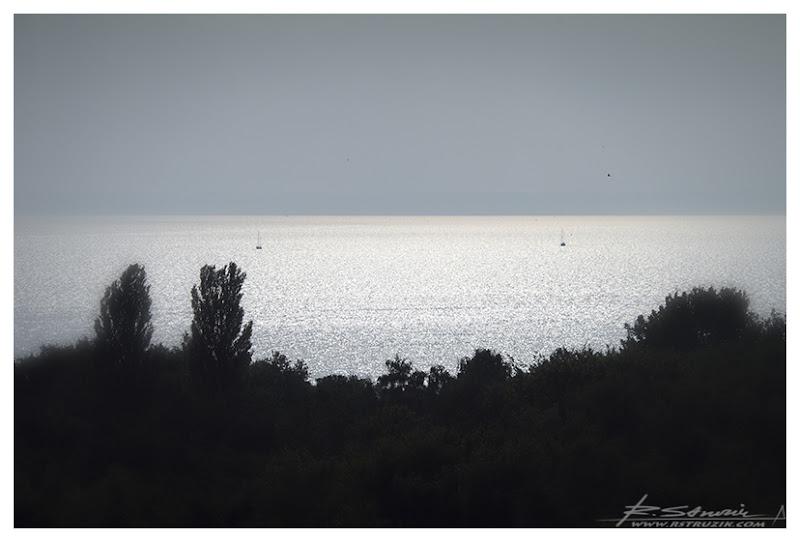 Hel. Widok z latarni morskiej. Wrześniowe popołudnie skąpane w słońcu.